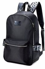 BRAND NEW 100% GENUINE VERSACE BLACK BACKPACK RUCKSACK GYM WEEKEND TRAVEL BAG