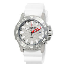 Nautica NSR 20  Silver Wave Dial Mens Sports Watch NAI12528G