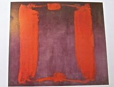 Mark Rothko PANEL ONE of Harvard Triptych  Offset Lithograph Unsigned 14x11