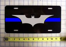 THIN BLUE LINE BATMAN CUSTOM LICENSE PLATE POLICE LAW ENFORCEMENT