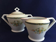 Vintage Nortiake China Nippon Toki Kaisha Cream and Sugar Bowl Made in Japan
