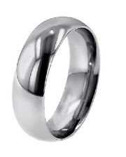 LOWEST PRICE DOMED PALLADIUM 5MM WIDE WEDDING BAND RING
