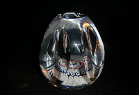 Whitefriars Glass Conical  Flat Top Facet  Cut Millefiori Paperweight  P5 -1976