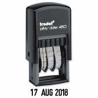 DATE STAMP, SELF INKING RUBBER, TRODAT 4810 MINI DATER 3.8mm CHARACTERS 70169