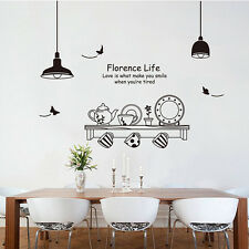 Removable Art Vinyl Kitchen Style DIY Wall Sticker Decal Mural Home Room Decor