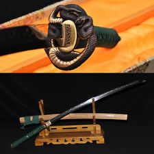 Clay Tempered Katana FULL TANG 1095 STEEL BLADE Japanese Samurai Handmade Sword