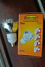 Omnicron R95 Low Energy CFL 18w (100w) Reflector E27 ES clear glass 2700k 8000hr