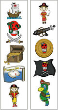 Premium Pirate Temporary Tattoos, Party Favors