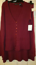 Moda 2 Piece wool mix red knitted jumper and skirt set size S