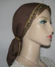 Head Covering Headcovering Batiste Cotton Snood Jacquard Ribbon Band