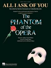 All I Ask of You from The Phantom of the Opera Sheet Music Piano Vocal 000353053