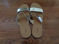 J CREW MALTA MIRROR  SILVER  SANDALS  SIZE-7 1/2  SOLD OUT