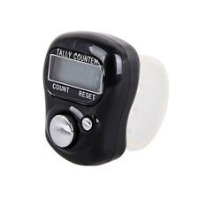 Digital LCD Display Finger Ring Handheld Plastic Knitting Row Tally Counter Time