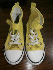 H & M Lime Green Canvas Boot. EU Size 27