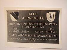 Graz - Alte Sternkneipe - Akademische Legion Corps Tartarus / Foto Plakette