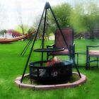 Backyard Camping Fire Pit Tripod Grill with 22