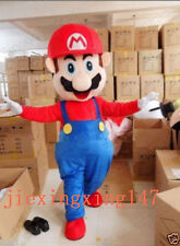 Adult Size Super Mario Mascot Costume Fancy Dress Lovely Brothers Suit..