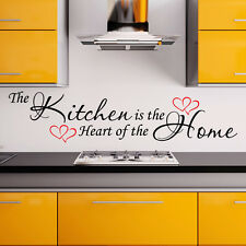 Kitchen wall sticker heart of the home vinyl art decal family quote w162