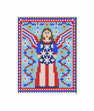 Angel Of American Freedom~Beaded Banner Pattern Only