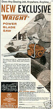 1959 Print Ad of Thomas Industries TI Wright Power Blade Saw