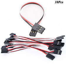10 X Male To Male Servo Lead JR Plug Extension Wire 10cm Cable for RC Quadcopter