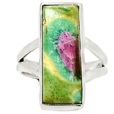 Ruby In Fuchsite 925 Silver Ring s.5 Jewelry RR7236