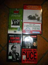 4 VHS SECONDA GUERRA MONDIALE, GIULIO BEDESCHI, DUCE, MUSSOLINI NUOVE SIGILLATE