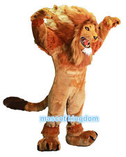 Huge Quality Lion Mascot Costume Cartoon Outfit Suit Free Shipping Adult Size