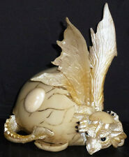 "OPAL  OCTOBER     Birthstone Dragon in Shell    4.87""   Figure Statue"