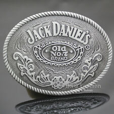 Western Cowboy Silver Jack Daniels Element Old No.7 Brocade Rodeo Belt Buckle