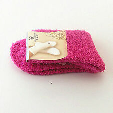 Winter Warm Women Girl Candy Solid Color Thicken Coral Fleece Fluffy Ankle Socks