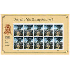 USPS New Repeal of the Stamp Act Souvenir Sheet of 10
