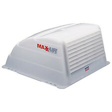 RV Roof Vent Cover 19in Cranked-Open Fan Rain Hail Cover Trailer Camping White