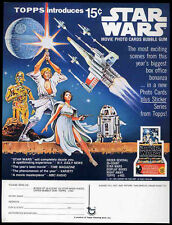 STAR WARS REPRO 1977 TOPPS BUBBLE GUM TRADING CARD RETAILER ORDER SHEET .NOT DVD