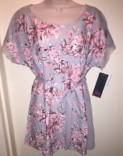 """OH BABY by Motherhood Maternity Floral Top Shirt """"GARDEN PARTY"""" Size L NEW Tags"""