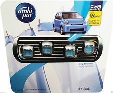 Ambi Pur Car Air Mini Clip Freshener Sky Breeze - 4 x 2mL