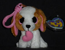 TY BEANIE BOOS - COOKIE the VALENTINE DOG KEY CLIP - MINT with MINT TAGS