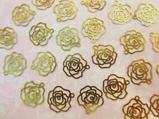 30 Gold Plated Rose Thin Plate Design Charm/beading/craft/findings K155-Flower