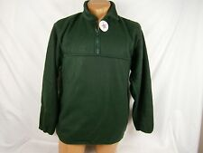 Ideal Dark Green Fleece Collared Sweatshirt 1/3 zip with pouch Size L  #523B