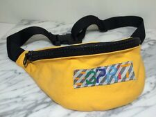 Vintage 80's 90's ESPRIT Classic Logo Cloth Big Zipper Fanny Hip Pack! Yellow!