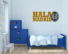 "Real Madrid ""Hala Madrid"" Soccer Wall Decals Vinyl Sticker For Room Bedroom"