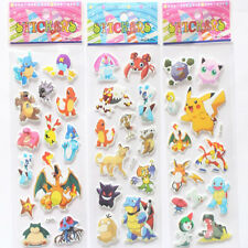3pcs/lot Pokemon Foam Cartoon Anime 3D Sticker Pikachu Stickers Diary Notebook