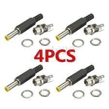 4PCS 2.1mm x 5.5mm Male + Female Panel Mount DC Power Plug Socket Jack Connector