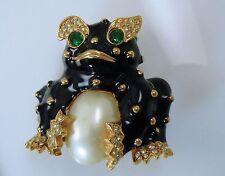 Ciner Vintage Frog Pin  Very Cute