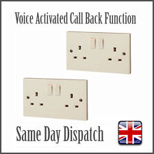2x Voice Activated GSM Bug Spy SIM Listening Wireless Device Mains Plug Socket