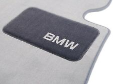 BMW OEM Gray Carpeted Floor Mats Heel Pad E93 3 Series Convertibles 82112293538