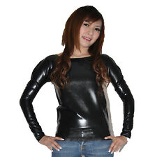 Brand New Latex Rubber Gummi Black Long Sleeve Shirt (one size)