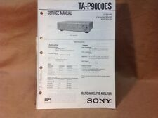 Genuine Sony TA-P9000ES Multichannel Pre Amplifier Service Manual - Lower Price!