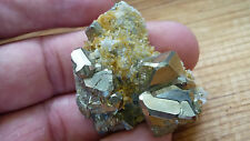 AA Pyrite Octahedron shape Crystal on quartz 4.5cm natural shape and unpolished
