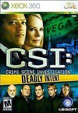 CSI: Crime Scene Investigation - Deadly Intent (Microsoft Xbox 360, 2009)